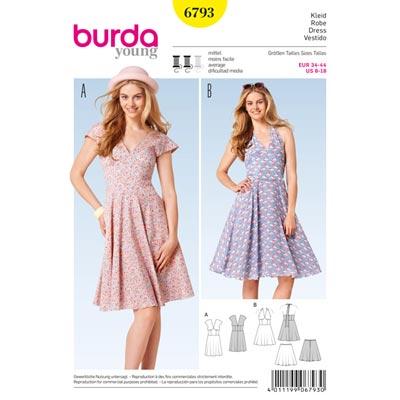 Kleid, Burda 6793 | 34 - 44