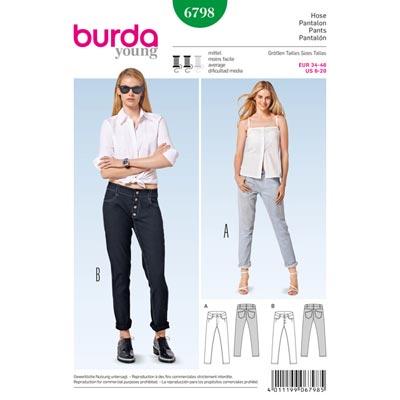 Jeans, Burda 6798