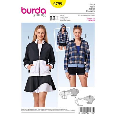 Blouson, Burda 6799 | 34 - 46