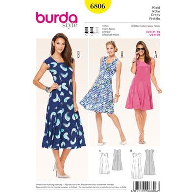 Kleid, Burda 6806 | 34 - 46