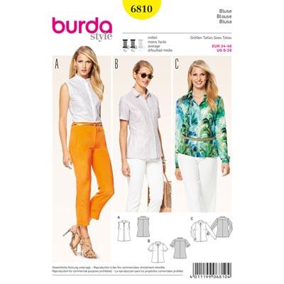 Bluse, Burda 6810