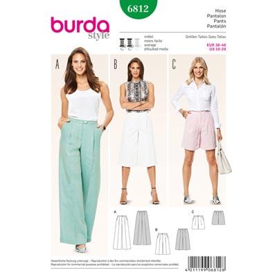 Hose, Burda 6812 | 36 - 46
