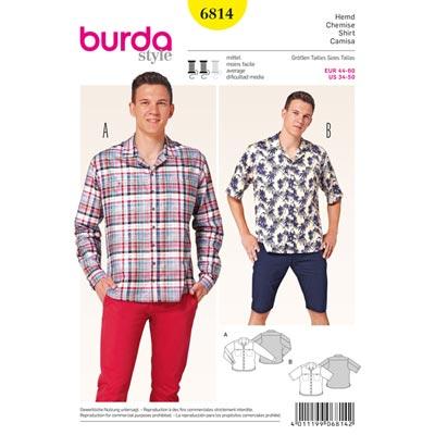 Herrenhemd, Burda 6814 | 44 - 60