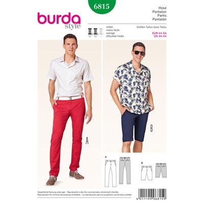 Herrenhose, Burda 6815 | 44 - 54