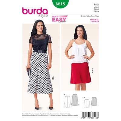 Rock, Burda 6818 | 36 - 54