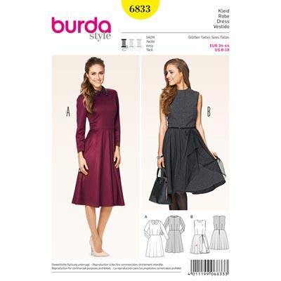 Kleid, Burda 6833 | 34 - 44
