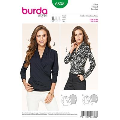 Shirt, Burda 6838 | 36 - 46