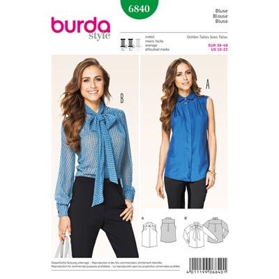 Bluse, Burda 6840 | 36 - 48