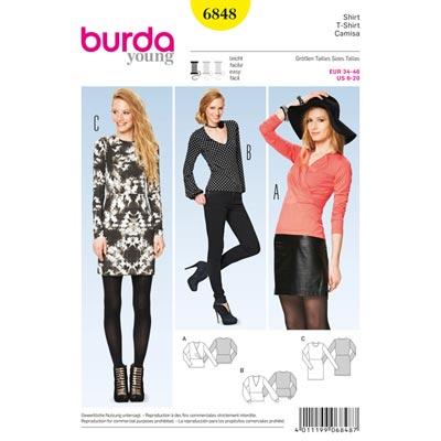 Shirt | Kleid, Burda 6848 | 34 - 46