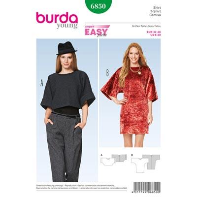 Shirt, Burda 6850 | 32 - 46