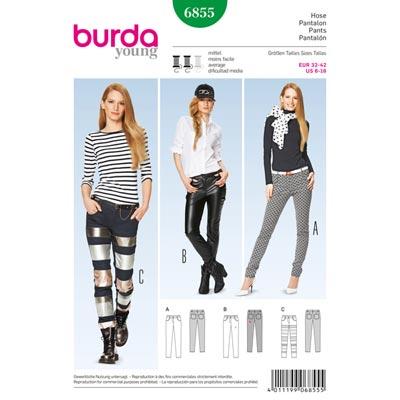Hose, Burda 6855 | 32 - 42