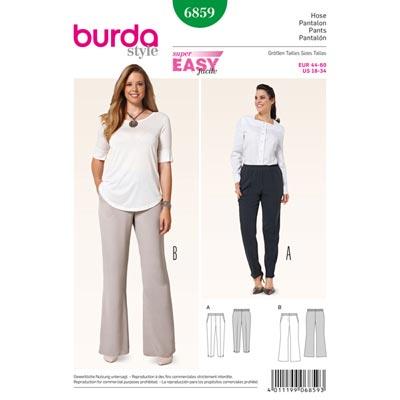 Hose | Schlupfhose, Burda 6859 | 44 - 60