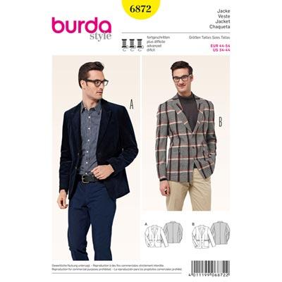 Herrensakko, Burda 6872 | 44 - 54