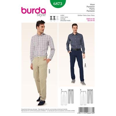 Herrenhose, Burda 6873 | 44 - 54