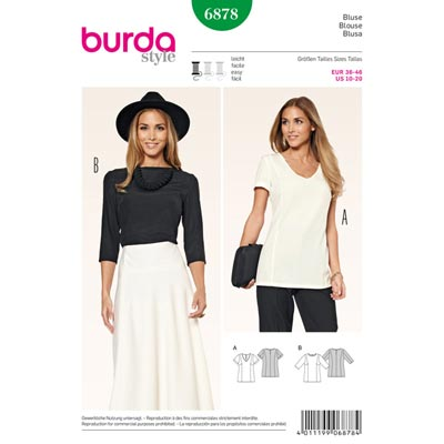 Blusenshirt, Burda 6878