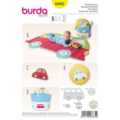 Spieldecke / Kissen / Stofftasche, Burda 6885