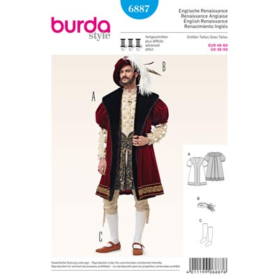 Historische Kostüme, Burda 6887 | 46 - 60