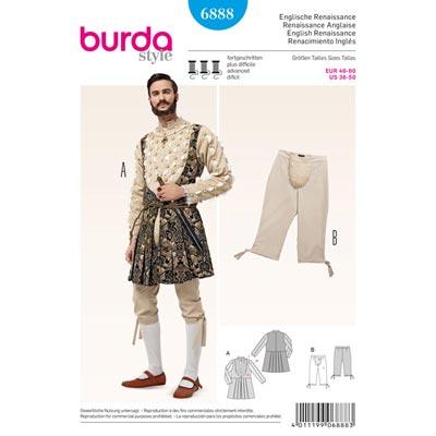 Historische Kostüme, Burda 6888 | 46 - 60