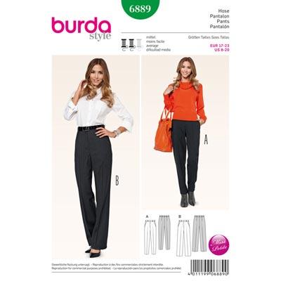 Hose, Burda 6889 | 17 - 23