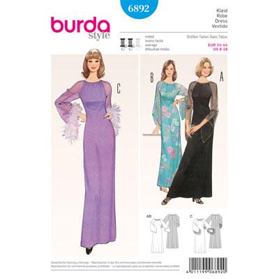 Vintage - Abendkleid, Burda 6892