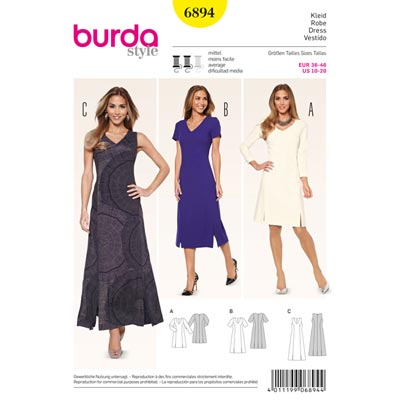 Kleid, Burda 6894 | 36 - 46