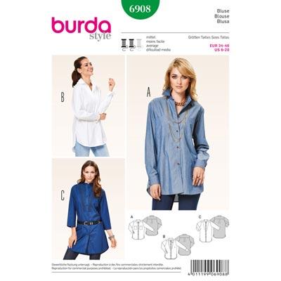 Bluse, Burda 6908 | 34 - 46