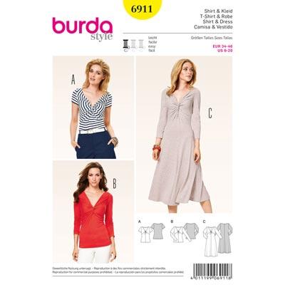 Shirt | Kleid, Burda 6911 | 34 - 46