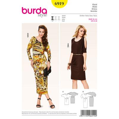 Robe avec manches kimono, Burda 6919