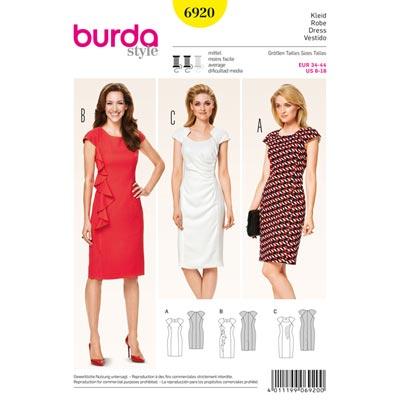 Kleid, Burda 6920 | 34 - 44