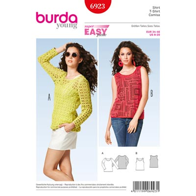 Shirt | Top, Burda 6923 | 34 - 46