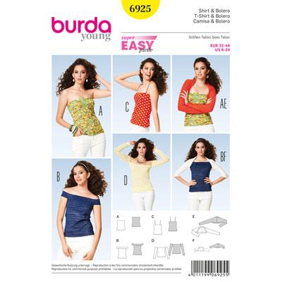 Shirt / Top / Bolero, Burda 6925