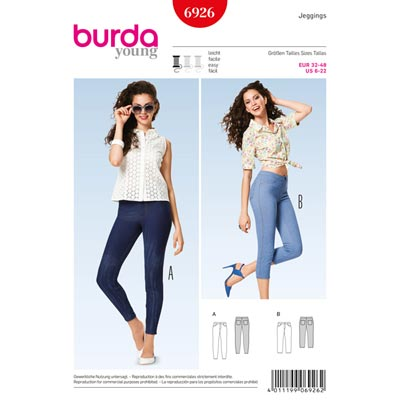 Jeggings, Burda 6926 | 32 - 48