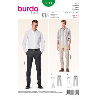 Herrenhose – schmale Form, Burda 6933