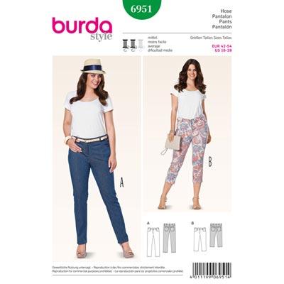 Hose | 3 | 4 Hose | Jeans, Burda 6951 | 42 - 54