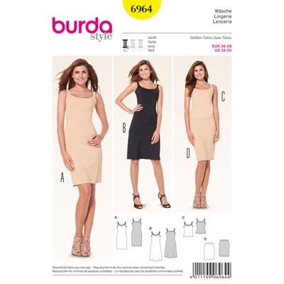 Wäsche | Unterkleid | Hemd | Unterrock, Burda 6964 | 36 - 50
