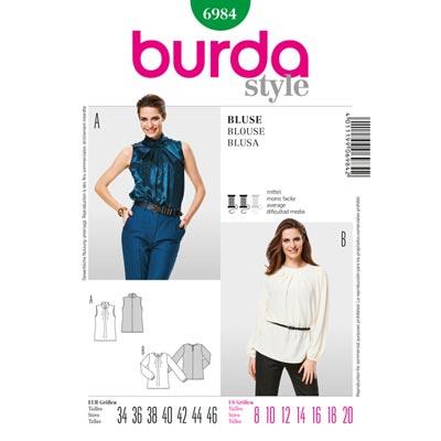 Bluse, Burda 6984 | 34 - 46