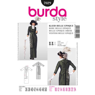 Kleid Belle Epoque / Humpelrock, Burda 7029
