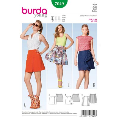 Wickelrock, Burda 7049 | 32 - 44