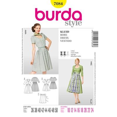 Dirndl, Burda 7084 | 36 - 50