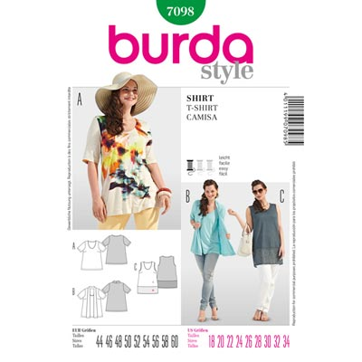Plus Size - Shirt, Burda 7098 | 44 - 60