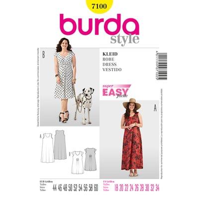 Plus Size - Sommerkleid, Burda 7100 | 44 - 60
