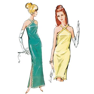 Vintage - Abendkleid, Burda 7110