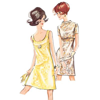 Vintage - Kleid / Jacke / Cape, Burda 7113