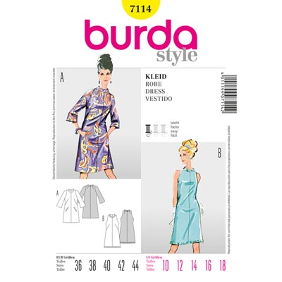 Vintage - Kleid, Burda 7114