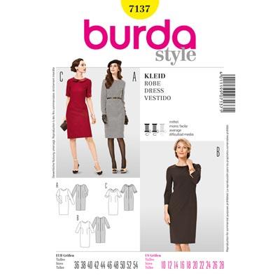 Kleid, Burda 7137 | 36 - 54