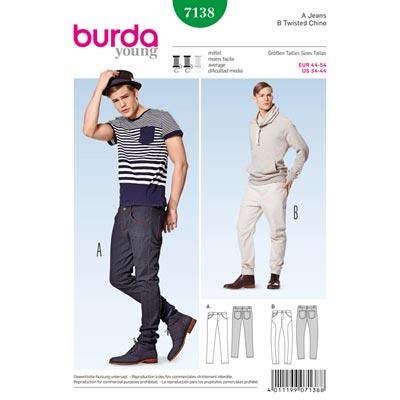 Herrenjeans | Chino, Burda 7138 | 44 - 54