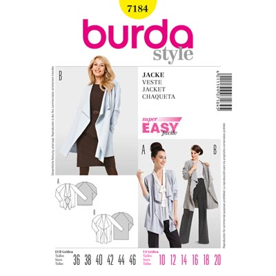 Jacke, Burda 7184 | 36 - 46