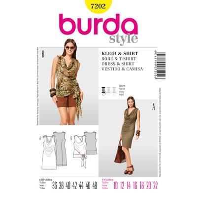 Kleid | Shirt, Burda 7202 | 36 - 48