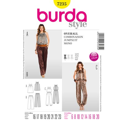 Overall | Shirt | Hose, Burda 7235 | 16 - 23