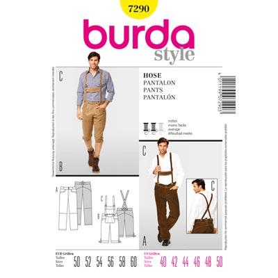 Lederhose, Burda 7290 | 50 - 60